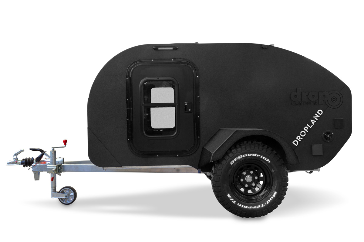 Drop Campers Dropland vista lateral - teardrop travel trailer